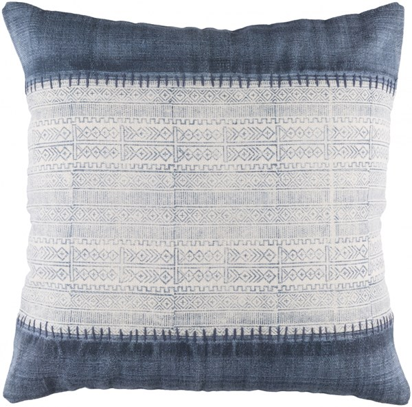Lola Pillow With Down Fill In Ivory Navy Slate (L 30 X W 30 X H 5) LL008-3030D