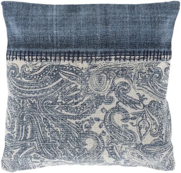 Lola Pillow With Poly Fill In Navy Slate Ivory (L 20 X W 20 X H 5) LL009-2020P