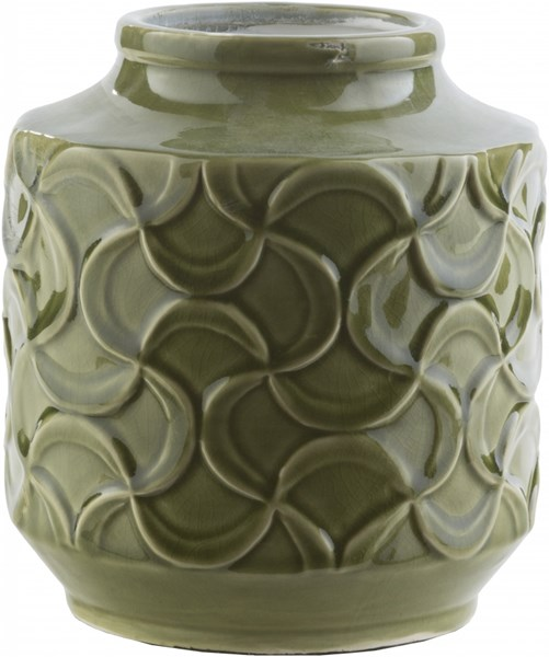 Loyola Contemporary Forest Ceramic Table Vase - 6.9W X6.9L X7.9H LLO111-S