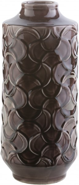 Loyola Contemporary Chocolate Ceramic Table Vase - 6.3W x 6.3L LLO112-L