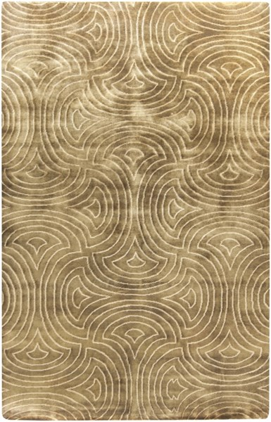 Luminous Contemporary Chocolate Beige Wool Area Rug (L 96 X W 60) LMN3011-58