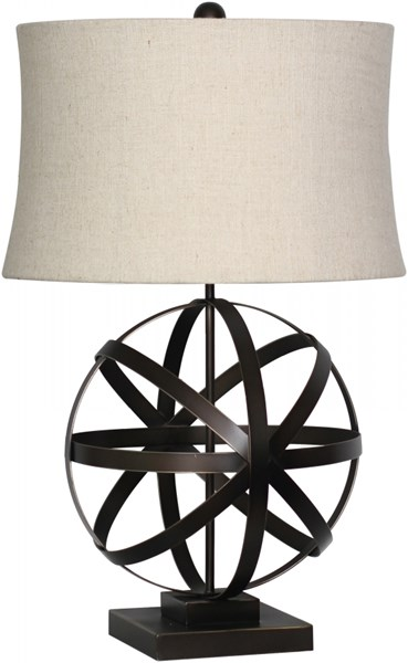 Lamp Bronze Metal Faux Linen Table Lamp - 15x28.5 LMP-1003