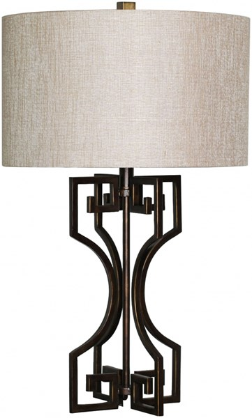 Lamp Bronze Metal Faux Linen Table Lamp - 17x26.5 LMP-1005