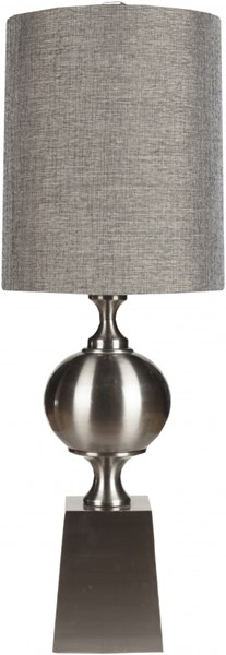 Lamp Contemporary Oil Rubbed Bronze Metal Faux Linen Table Lamp LMP-1009