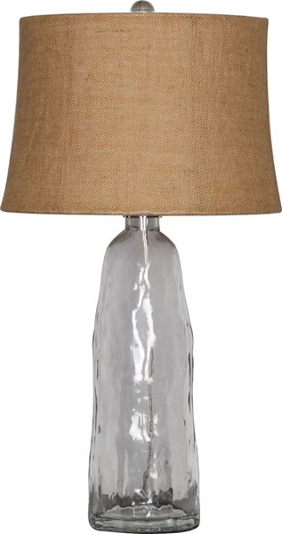 Lamp Contemporary Glass Burlap Table Lamps 13785-VAR1
