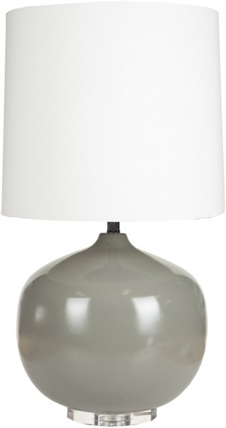 Lamp Contemporary Gray Ceramic Faux Linen Table Lamp LMP-1013