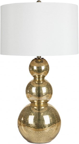 Lamp Contemporary Goldtone Mercury Glass Faux Silk Table Lamp LMP-1017
