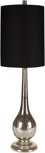 Lamp Mercury Glass Faux Linen Table Lamp - 13x42 LMP-1023