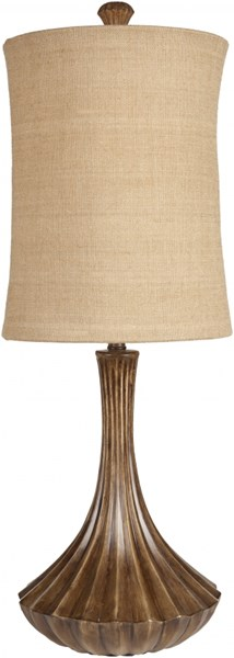 Elegant Carmel Resin Burlap Table Lamp (W 12.5 X H 36) LMP-1027