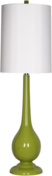 Lamp Lime Glass Faux Silk Table Lamp - 17x41.5 LMP-1054