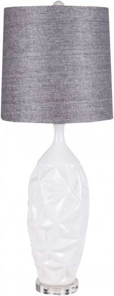 Lamp White Ceramic Fabric Table Lamp - 11.5x33 LMP-1058