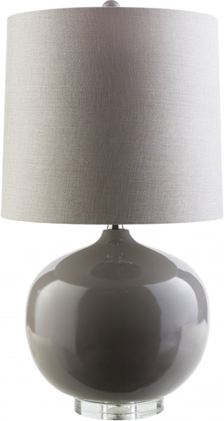 Lamp Gray Acrylic Resin Linen Table Lamp - 17x32.25 LMP-1067