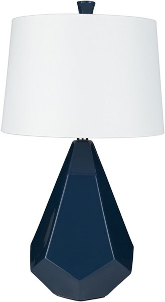 Surya Enigma Navy Ceramic Table Lamp - 15x27 LMP-1073