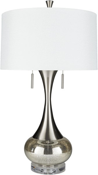 Surya Karval White Glass Table Lamp - 18x33.25 LMP-1074