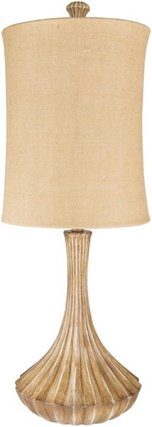 Surya Woodland Camel Linen Table Lamp - 13x34 LMP-1077