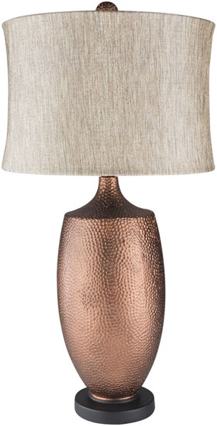 Surya Cleveland Tan Linen Table Lamp - 16x30 LMP-1078