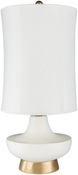 Surya Brookhaven White Table Lamp - 12.5x26.50 LMP-1079