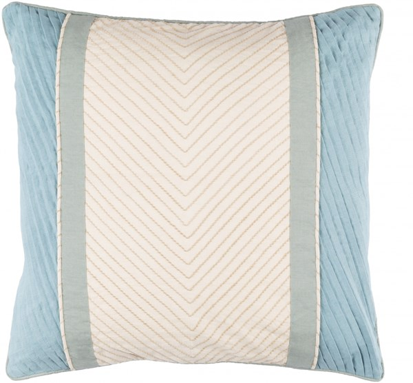 Leona Beige Moss Linen Cotton Throw Pillow ( L 22 X W 22 X H 5) LN004-2222P