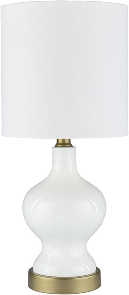 Surya Laney White Metal Table Lamp - 8x17.50 LNY-001