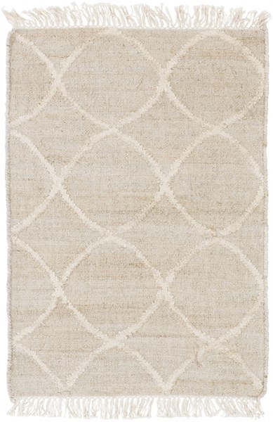 Laural Contemporary Ivory Beige Jute Area Rug ( L 36 X W 24 ) LRL6001-23
