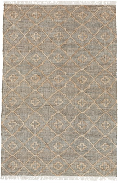 Laural Ivory Beige Moss Fabric Rectangle Area Rug ( L 90 X W 60 ) LRL6010-576