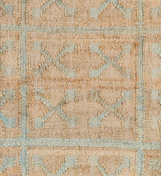 Surya Laural Khaki Medium Gray Cream Jute Sample Area Rug 18 x 18 LRL6014-1616