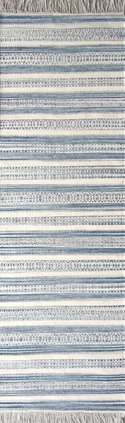 Surya Lawry Navy Pale Blue Cream Wool Runner 96 x 30 LRY7001-268