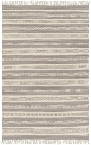 Lawry Light Gray Ivory Taupe Wool Cotton Area Rug ( L 90 X W 60 ) LRY7003-576