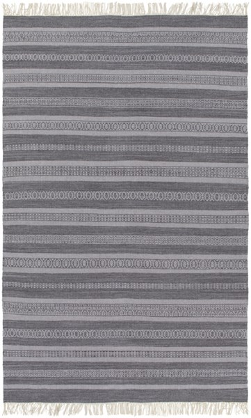 Lawry Light Gray Charcoal Wool Cotton Area Rug ( L 90 X W 60 ) LRY7004-576