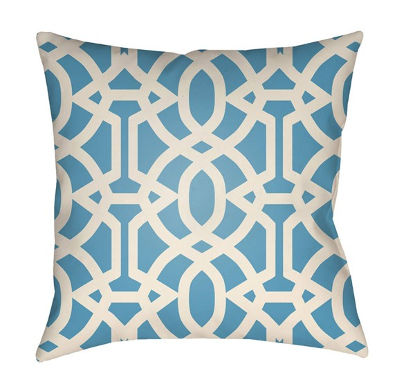 Surya Litchfield Azure Polyester Pillow Cover - 18x18 LTCH1122-1818