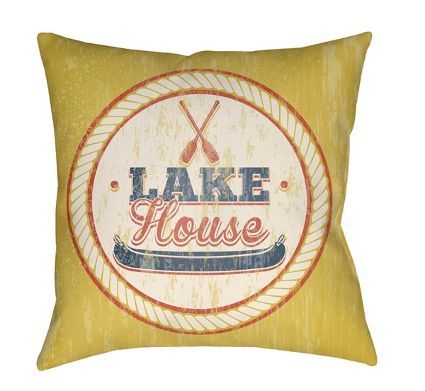 Surya Litchfield Yellow Pillow Cover - 26x26 LTCH1524-2626