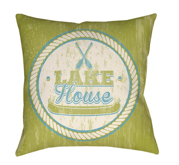 Surya Litchfield Lime Pillow Cover - 18x18 LTCH1532-1818