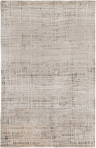 Ludlow Light Gray Charcoal Viscose Area Rug (L 108 X W 72) LUD2001-69