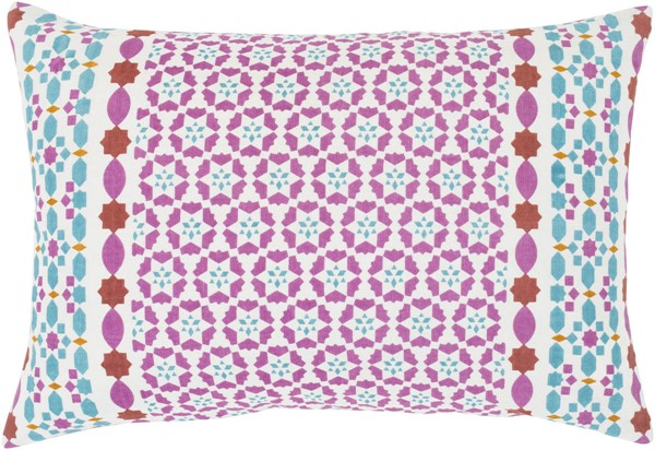 Surya Lucent Pink White Poly Pillow - 18x18 LUE002-1818P