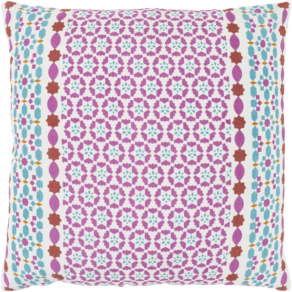 Surya Lucent Pink White Pillow Cover - 22x22 LUE002-2222