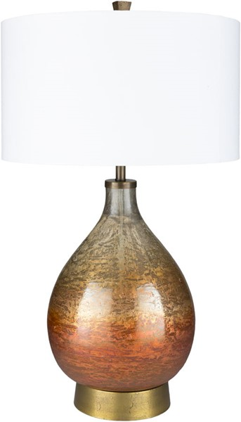 Surya Lulu White Glass Table Lamp - 18x30.20 LUL-001