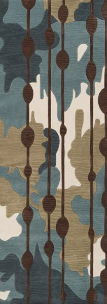 Lava Olive Chocolate Beige Polyester Runner ( L 96 X W 30 ) LVA8009-268