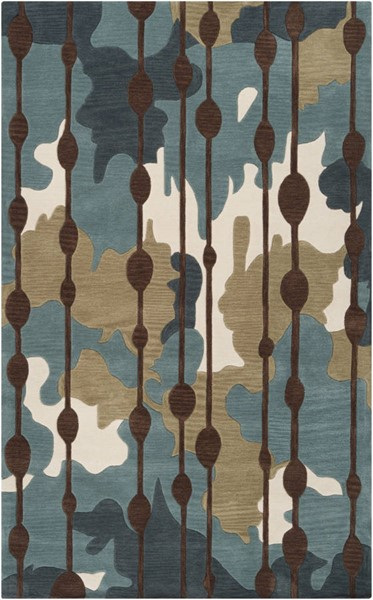 Surya Lava Dark Blue Green Brown Polyester Area Rug 90 x 60 LVA8009-576