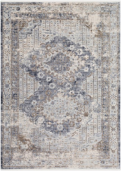 Surya Liverpool Charcoal Medium Gray White Polyester Area Rug 67 x 47 LVP2301-31157