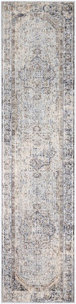 Surya Liverpool Charcoal Medium Gray Ivory Polyester Runner 123 x 31 LVP2302-27103