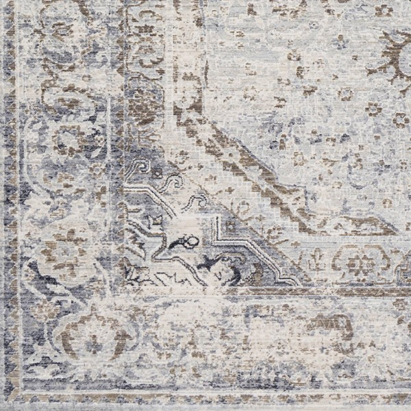 Surya Liverpool Charcoal Medium Gray Ivory Polyester Area Rug 18 x 18 LVP2302-1616