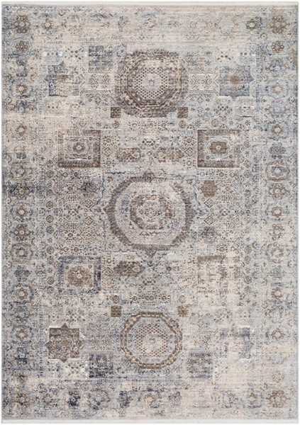 Surya Liverpool Charcoal Silver Medium Gray Polyester Area Rug 123 x 94 LVP2304-710103