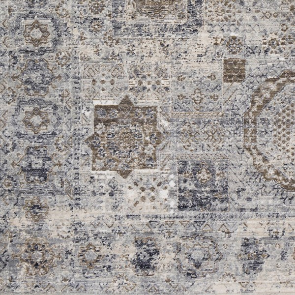 Surya Liverpool Charcoal Silver Medium Gray Polyester Area Rug 18 x 18 LVP2304-1616