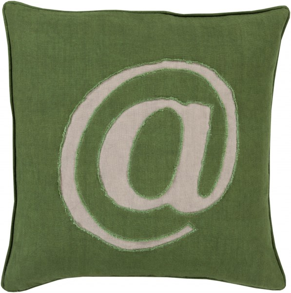 Linen Text Forest Gray Down Linen Throw Pillow ( L 18 X W 18 X H 4 ) LX005-1818D