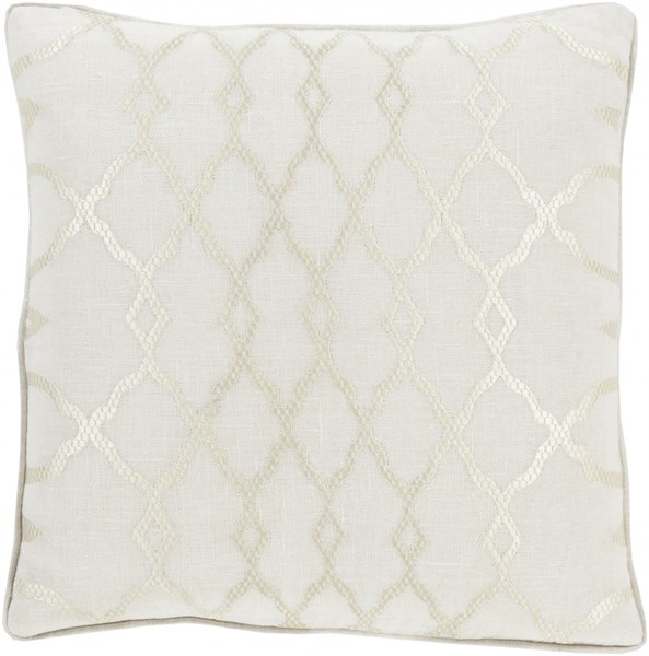 Lydia Ivory Fabric Throw Pillow (L 18 X W 18 X H 4) LY001-1818D