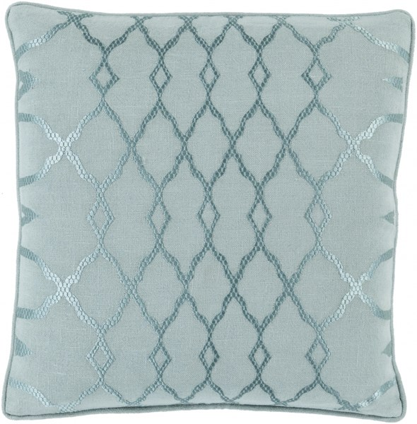 Lydia Gray Teal Fabric Throw Pillow (L 18 X W 18 X H 4) LY002-1818D