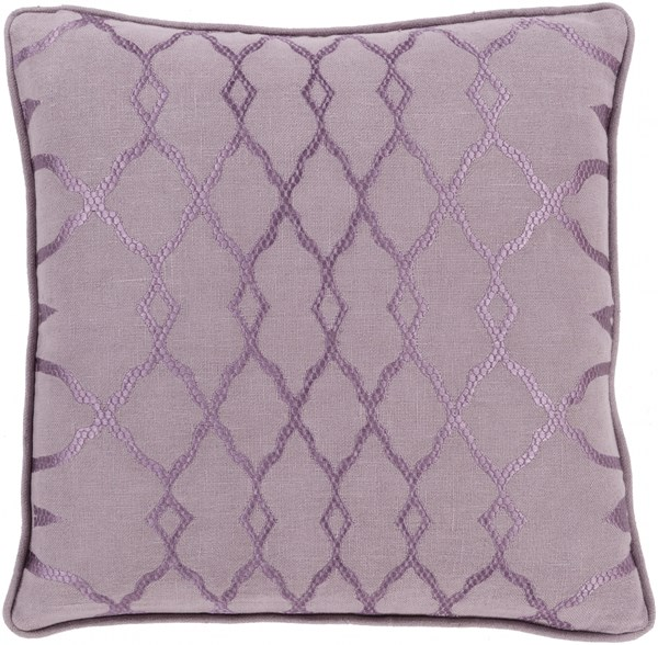 Lydia Contemporary Mauve Fabric Throw Pillow (L 22 X W 22 X H 5) LY003-2222D