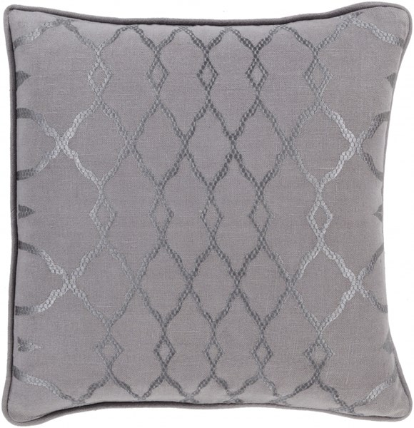 Lydia Charcoal Gray Fabric Throw Pillow (L 22 X W 22 X H 5) LY004-2222D