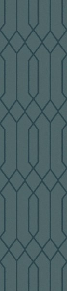 Lydia Contemporary Teal Wool Hand Knot Runner LYD6010-268