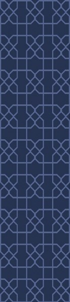 Lydia Contemporary Navy Wool Hand Knot Runner LYD6017-268